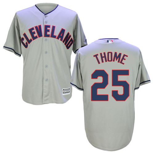 Indians #25 Jim Thome Grey New Cool Base Stitched MLB Jersey
