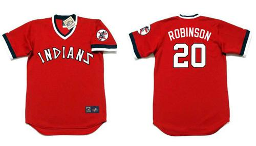 Indians #20 Eddie Robinson Red 1978 Turn Back The Clock Stitched MLB Jersey