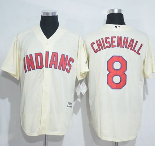 Indians #8 Lonnie Chisenhall Cream New Cool Base Stitched MLB Jersey