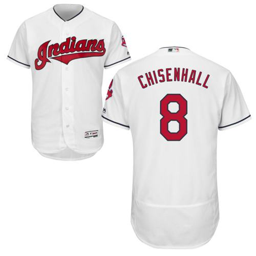 Indians #8 Lonnie Chisenhall White Flexbase Authentic Collection Stitched MLB Jersey