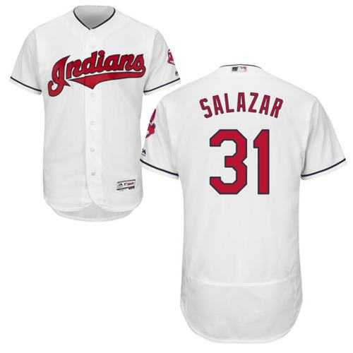 Indians #31 Danny Salazar White Flexbase Authentic Collection Stitched MLB Jersey