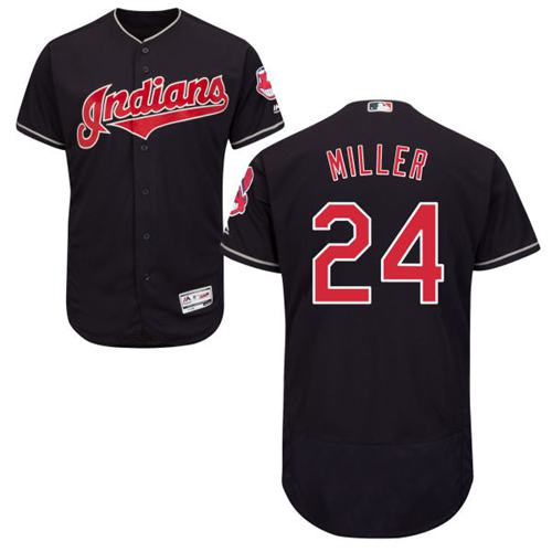Indians #24 Andrew Miller Navy Blue Flexbase Authentic Collection Stitched MLB Jersey