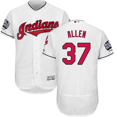 Indians #37 Cody Allen White Flexbase Authentic Collection 2016 World Series Bound Stitched MLB Jersey