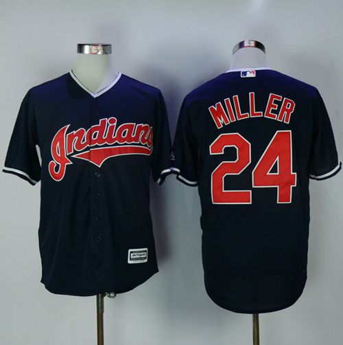 Indians #24 Andrew Miller Navy Blue New Cool Base Stitched MLB Jersey