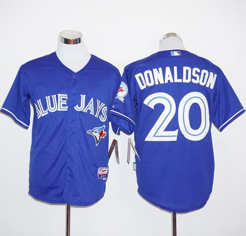 Blue Jays #20 Josh Donaldson Blue Alternate Cool Base Stitched MLB Jersey