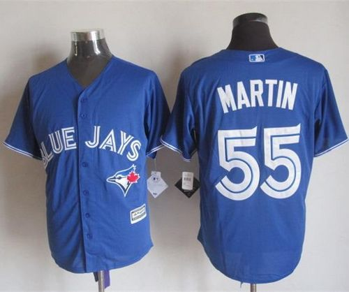 Blue Jays #55 Russell Martin Blue New Cool Base Stitched MLB Jersey