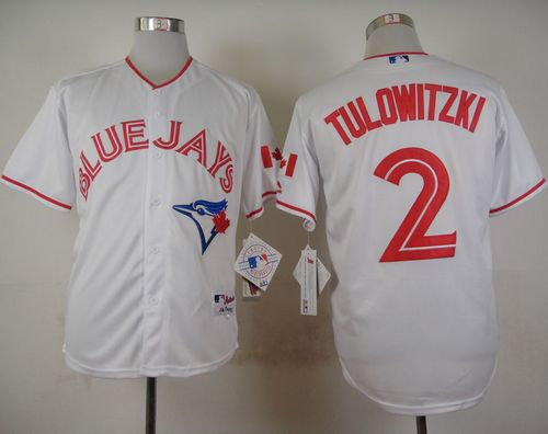 Blue Jays #2 Troy Tulowitzki White 2015 Canada Day Stitched MLB Jersey