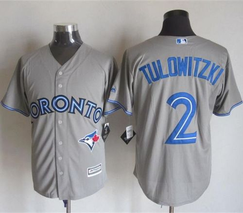 Blue Jays #2 Troy Tulowitzki Grey New Cool Base Stitched MLB Jersey