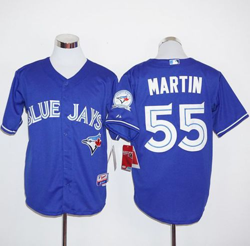 Blue Jays #55 Russell Martin Blue Alternate Stitched MLB Jersey