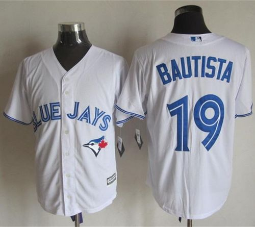 Blue Jays #19 Jose Bautista White New Cool Base Stitched MLB Jersey