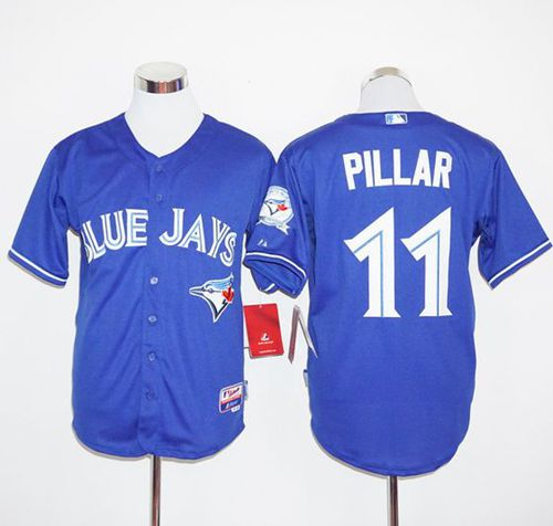 Blue Jays #11 Kevin Pillar Blue Cool Base Stitched MLB Jersey