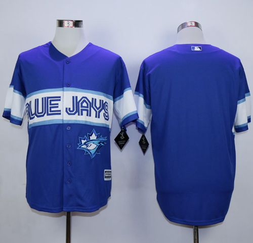 Blue Jays Blank Blue Exclusive New Cool Base Stitched MLB Jersey