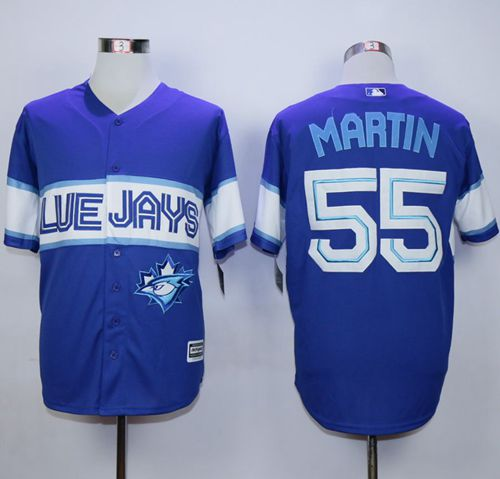 Blue Jays #55 Russell Martin Blue Exclusive New Cool Base Stitched MLB Jersey