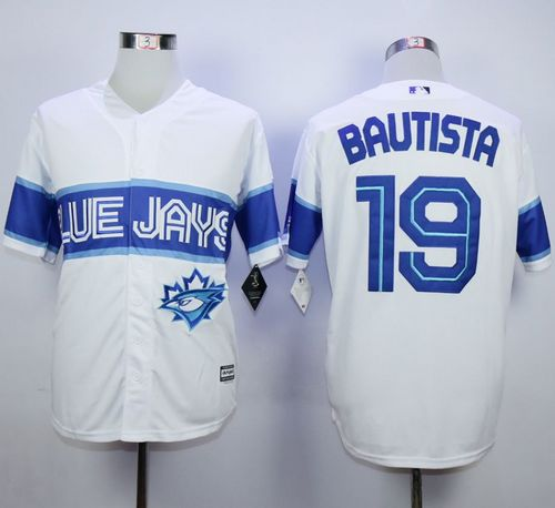 Blue Jays #19 Jose Bautista White Exclusive New Cool Base Stitched MLB Jersey