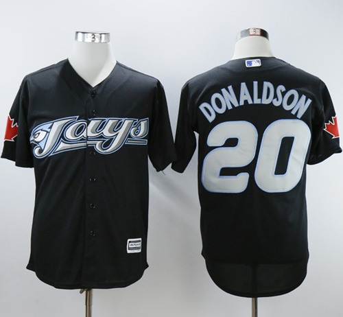 Blue Jays #20 Josh Donaldson Black 2008 Turn Back The Clock Stitched MLB Jersey