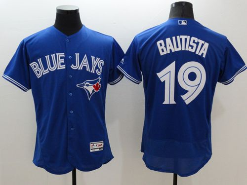 Blue Jays #19 Jose Bautista Blue Flexbase Authentic Collection Stitched MLB Jersey