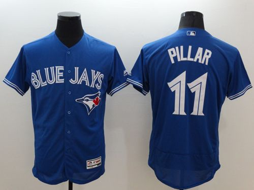 Blue Jays #11 Kevin Pillar Blue Flexbase Authentic Collection Stitched MLB Jersey