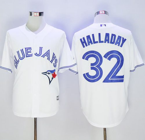 Blue Jays #32 Roy Halladay White New Cool Base Stitched MLB Jersey
