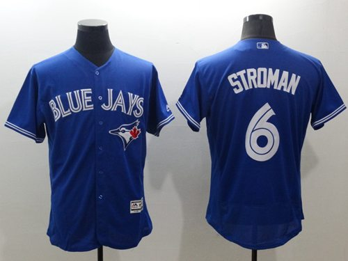 Blue Jays #6 Marcus Stroman Blue Flexbase Authentic Collection Stitched MLB Jersey