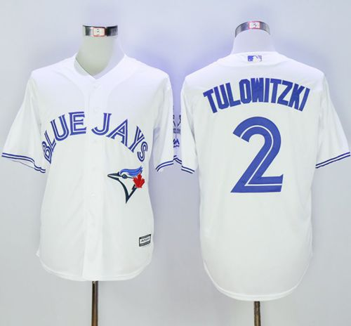 Blue Jays #2 Troy Tulowitzki White New Cool Base 40th Anniversary Stitched MLB Jersey