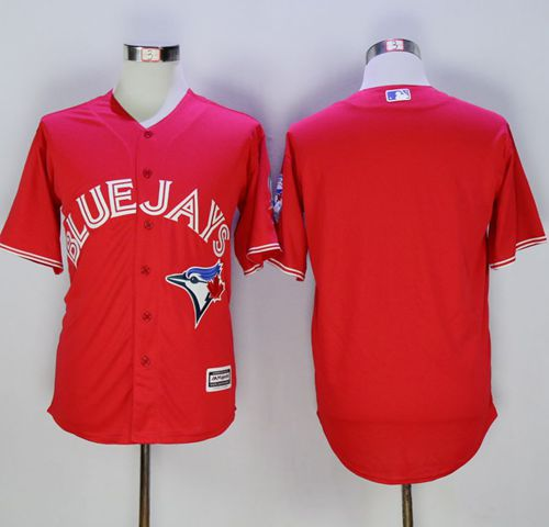 Blue Jays Blank Red New Cool Base 40th Anniversary Stitched MLB Jersey