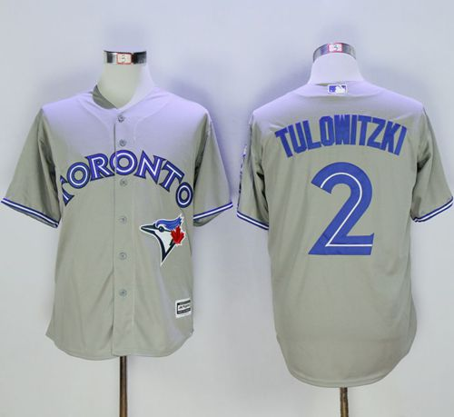 Blue Jays #2 Troy Tulowitzki Grey New Cool Base 40th Anniversary Stitched MLB Jersey