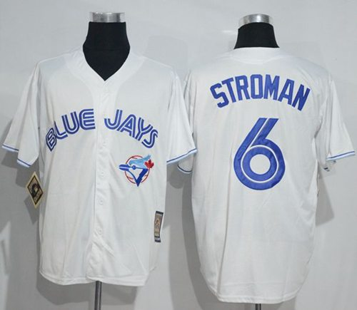 Blue Jays #6 Marcus Stroman White Cooperstown Throwback Stitched MLB Jersey