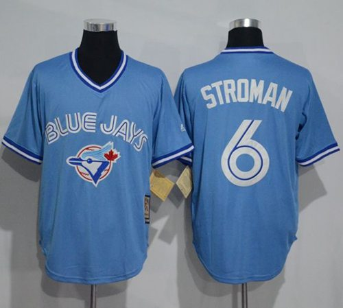 Blue Jays #6 Marcus Stroman Light Blue Cooperstown Throwback Stitched MLB Jersey