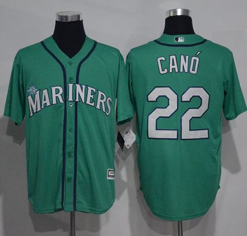 Mariners #22 Robinson Cano Green New Cool Base Stitched MLB Jersey
