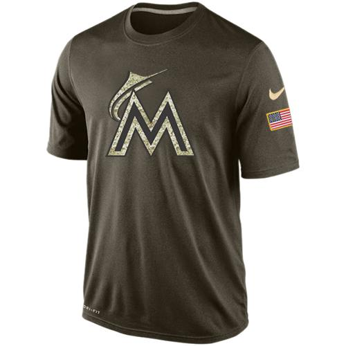 Men's Miami Marlins Salute To Service Nike Dri-FIT T-Shirt