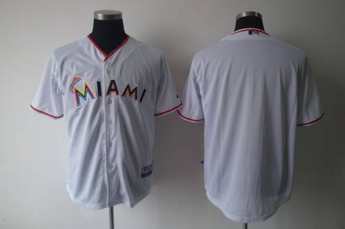 marlins Blank White 2012 Home Stitched MLB Jersey