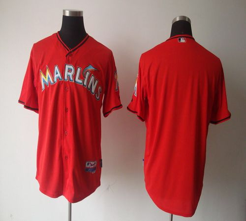 marlins Blank Red 2012 Alternate Stitched MLB Jersey