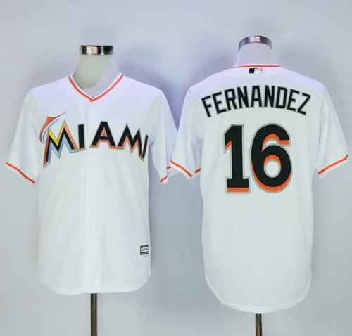 marlins #16 Jose Fernandez White New Cool Base Stitched MLB Jersey