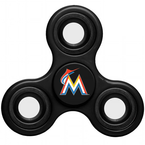 MLB Miami Marlins 3 Way Fidget Spinner C58 - Black