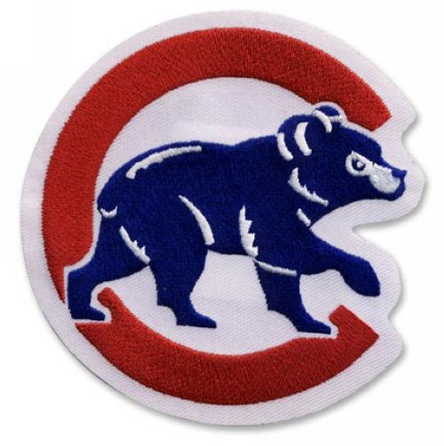 Stitched MLB Chicago Cubs Walking Bear Sleeve Patch