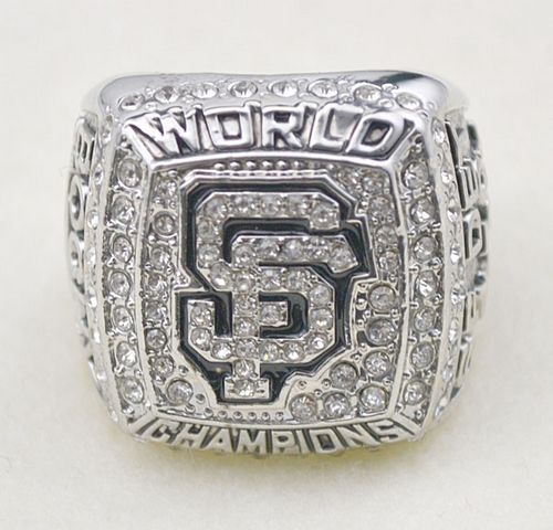 MLB San Francisco Giants World Champions Silver Ring_3