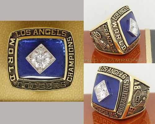 1981 MLB Championship Rings Los Angeles Dodgers World Series Ring