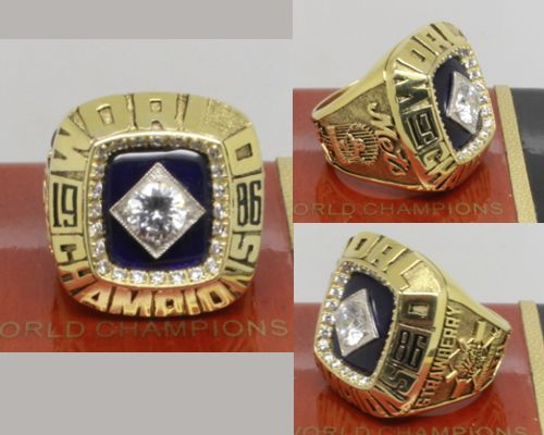1986 MLB Championship Rings New York Mets World Series Ring