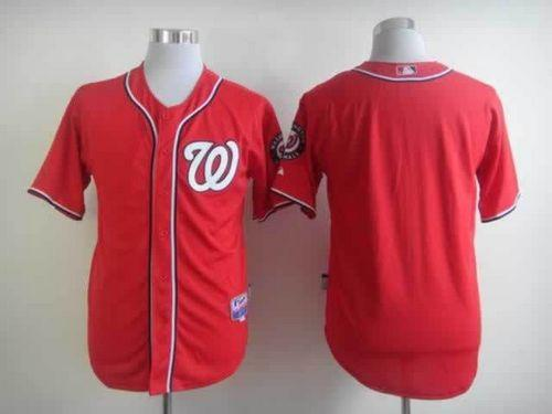 Nationals Blank Red Cool Base Stitched MLB Jersey