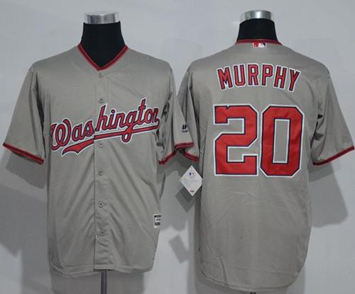 Nationals #20 Daniel Murphy Grey New Cool Base Stitched MLB Jersey