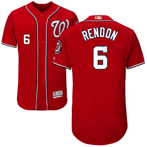 Nationals #6 Anthony Rendon Red Flexbase Authentic Collection Stitched MLB Jersey