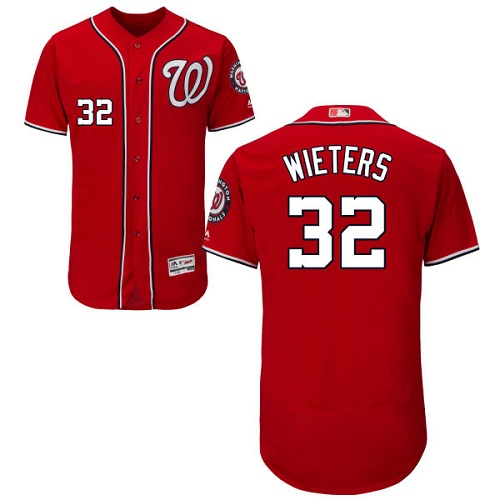 Nationals #32 Matt Wieters Red Flexbase Authentic Collection Stitched MLB Jersey