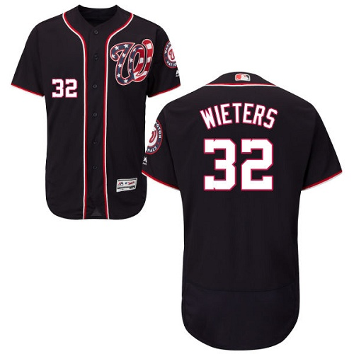 Nationals #32 Matt Wieters Navy Blue Flexbase Authentic Collection Stitched MLB Jersey
