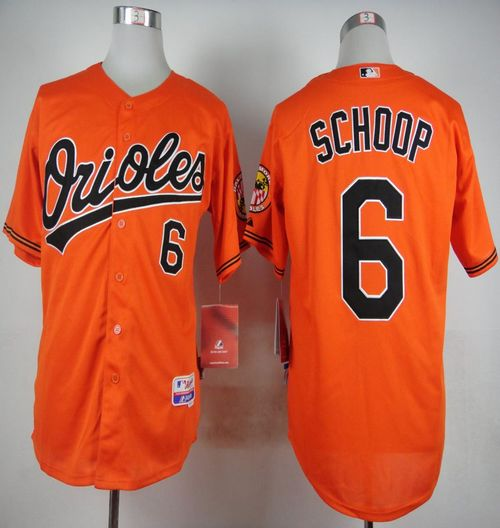 Orioles #6 Jonathan Schoop Orange Cool Base Stitched MLB Jersey