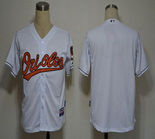 Orioles Blank White Cool Base Stitched MLB Jersey