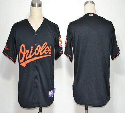 Orioles Blank Black Cool Base Stitched MLB Jersey