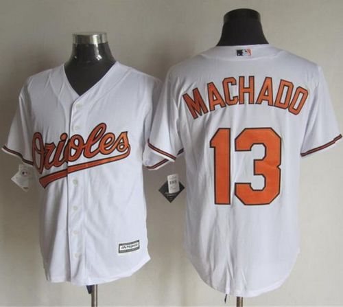 Orioles #13 Manny Machado White New Cool Base Stitched MLB Jersey