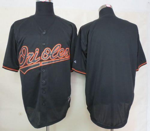 Orioles Blank Black Fashion Stitched MLB Jersey