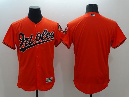 Orioles Blank Orange Flexbase Authentic Collection Stitched MLB Jersey