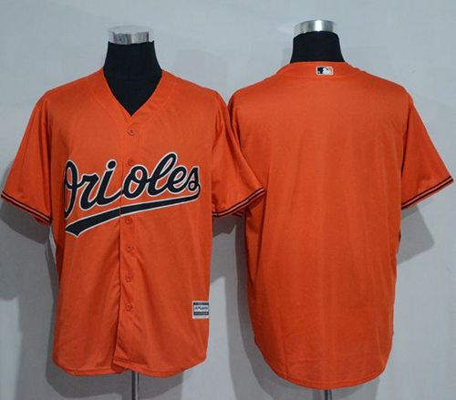 Orioles Blank Orange New Cool Base Stitched MLB Jersey